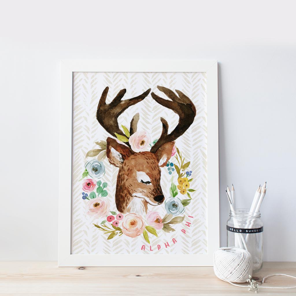 What A Deer! | Alpha Phi 8x10 Wall Art