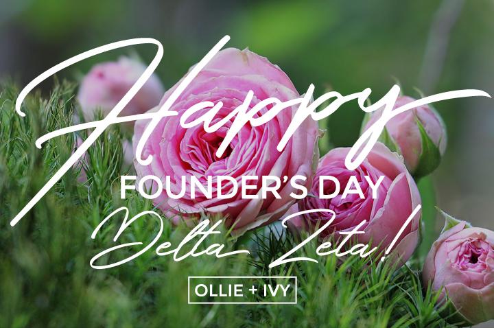 Happy Founder's Day, Delta Zeta!