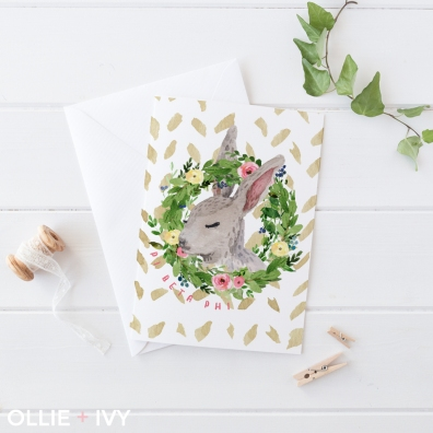 What's So Bunny?! Notecard | Ollie + Ivy