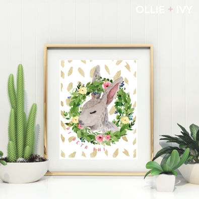 What's So Bunny?! 8x10 Wall Art | Ollie + Ivy